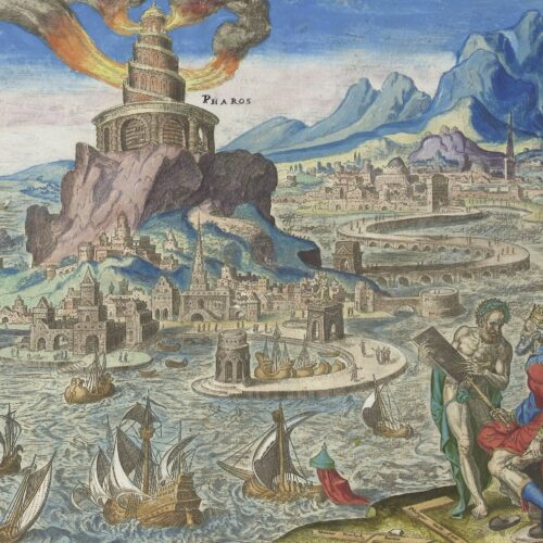 The Lighthouse of Alexandria depicted 1572. Rijksmuseum, Amsterdam